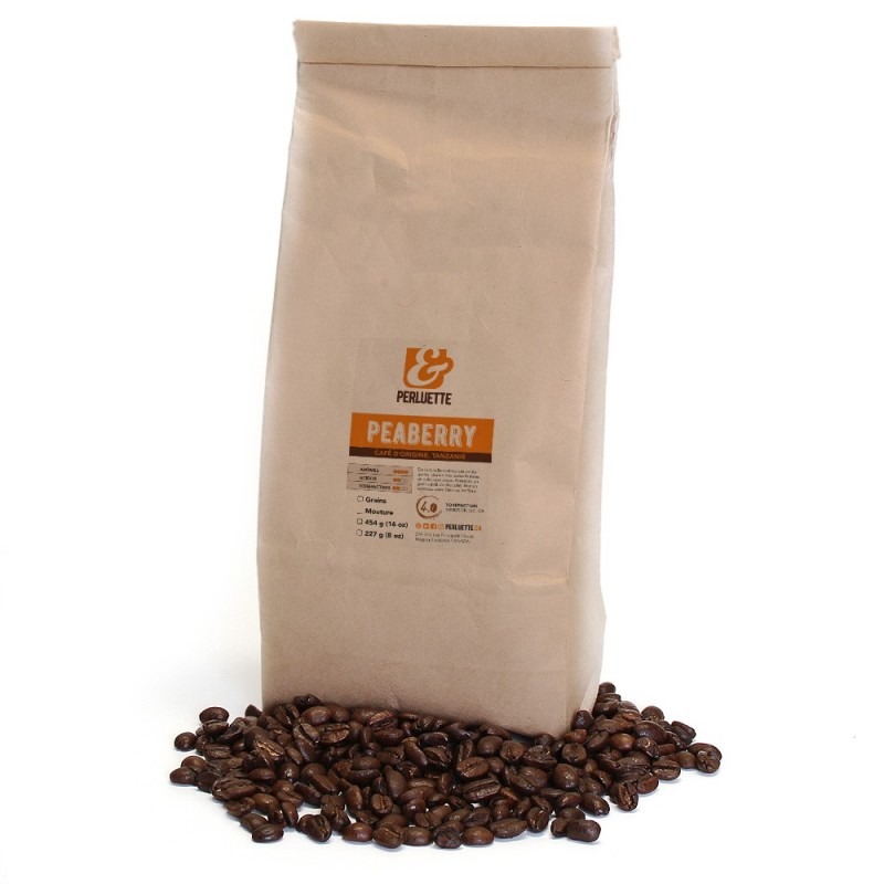 Peaberry coffee from Tanzania