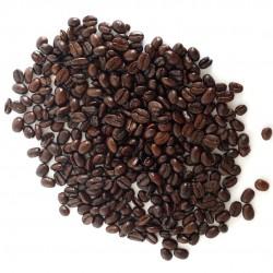 Grains de café bruns légèrement huilleux